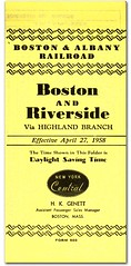 Boston & Albany Highland Branch, 1958 (ovondrak) Tags: boston commuter timetable newyorkcentral bostonalbany