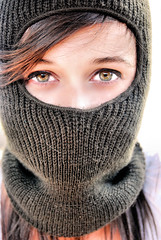 Balaclava (i) (George Donaldson) Tags: game beauty mouth hall model eyes shot skin classics hiding balaclava challenge the fame portrait fotocompetitionbronze fotocompetitionsilver fotocompetitiongold