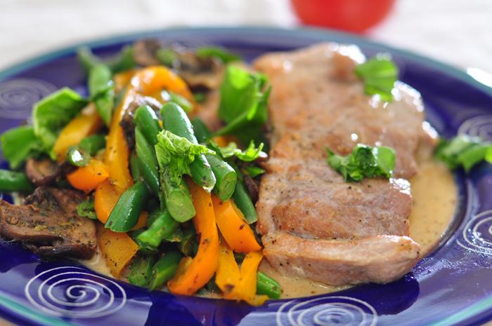 pork loins plated