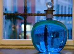 In Town Hall Pharmacy (Dmitry Chastikov) Tags: travel blue tallinn estonia european pentax bokeh pharmacy drugstore oldest chemists фото apteek банка эстония аптека ратуша raeapteek k20d 18250mm tamron18250 таллин justpentax средневековая tallinn2009 20091105imgp9356cr11rcrop склянка дмитрийчастиков