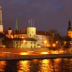 Riga: Castle by night