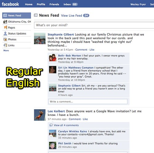 Facebook - Regular English
