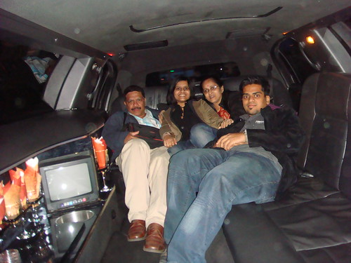Family re-union... in the US.. inside the Limo.. :)