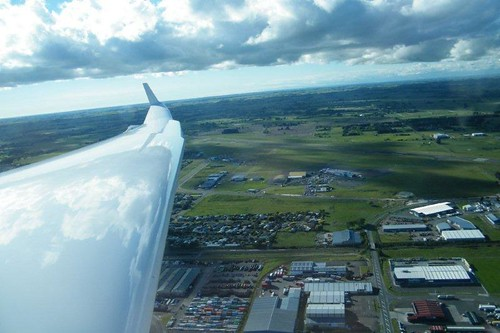 Approaching Palmerston North airfield