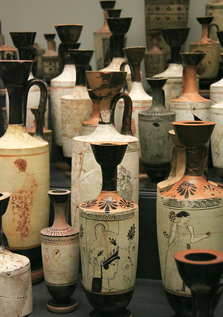 Greek white-ground vases