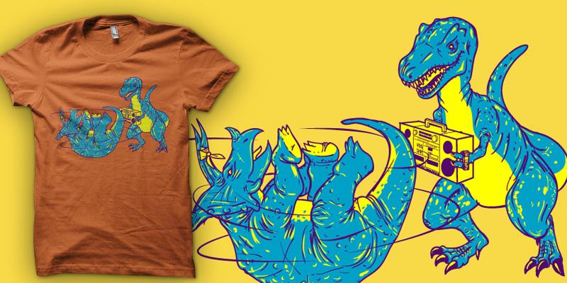 prehistoric b-boys emptees style shirt mockup