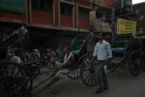 Men, rickshaws