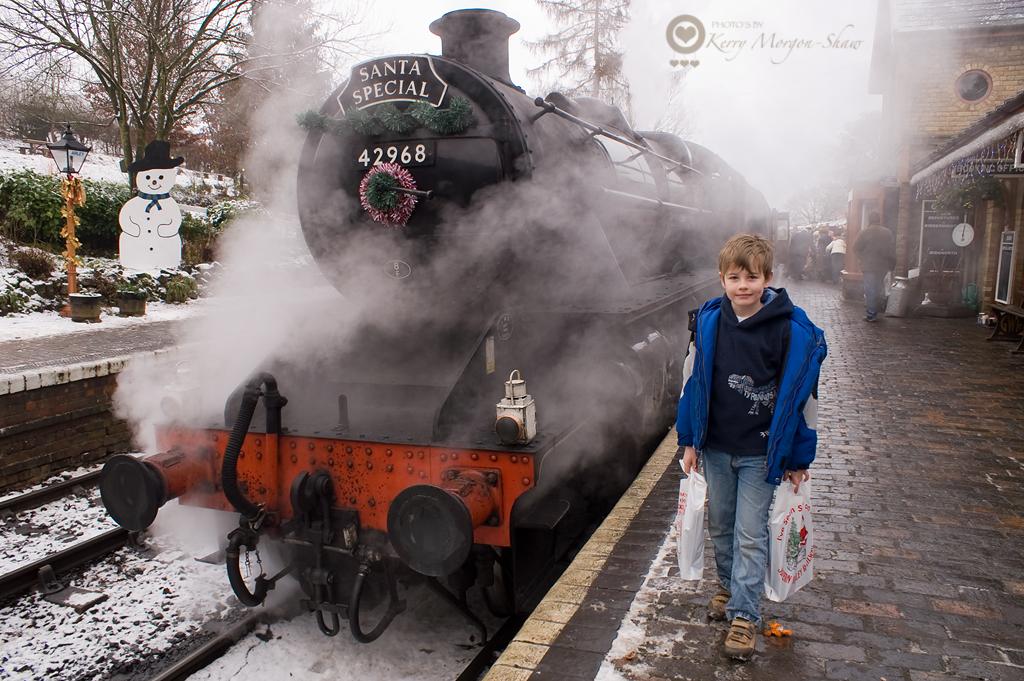 Santa steam train