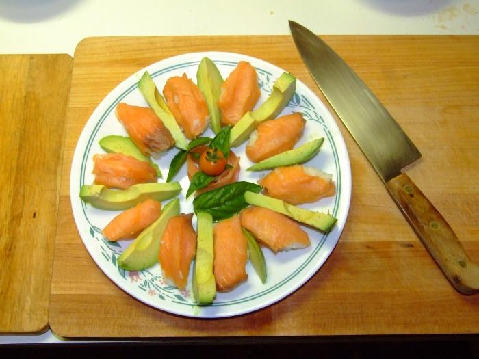 christmas sushi platter