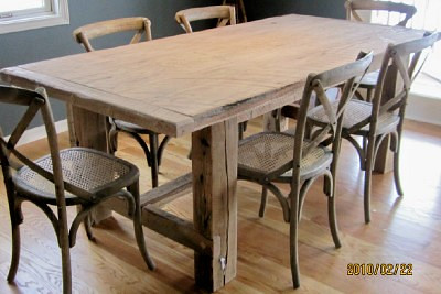 Rustic Farm Table - Natural-1