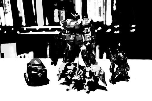 NEX-5ピクチャーエフェクト:ポスタリゼーション(白黒)