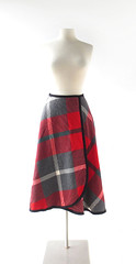 1950s Pendleton Spectator plaid wool wrap skirt (Small Earth Vintage) Tags: smallearthvintage vintagefashion vintageclothing skirt pendleton 1950s 50s wool plaid red wrapskirt