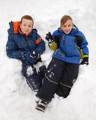 snow|boys (DJHuber) Tags: snow day snowy walk prince george british columbia canada elijah marcus