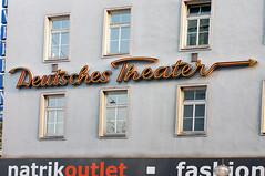Deutsches Theater (Bundscherer) Tags: sign munich münchen logo typography figure type letter lettering typo schrift lettern buchstaben typografie beschriftung fassadenbeschriftung wandbeschriftung
