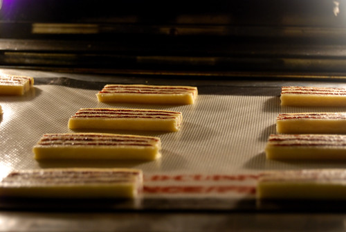 Striped Icebox Cookies, baking