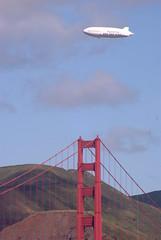 zeppelligiblimp (thamiter) Tags: sanfrancisco california bridge goldengate blimp marinheadlands highway101 dirigible crissyfield ggnra zeppellin airshipventures
