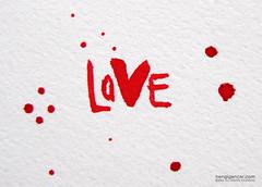 love (bengi gencer) Tags: love ink loveis redink