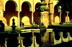 Alczares Reales de Sevilla (The Big Jiggety) Tags: water architecture spain agua aqua eau wasser columns arches seville espana andalusia reflexions spanien spagna alacazar