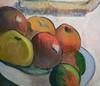 Gauguin, Portrait of Jacob Meyer de Haan with detail of fruit