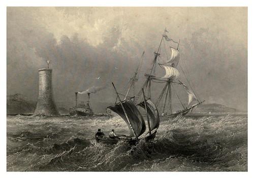 021 Faro cerca de Cobourg en el lago Ontario 1842