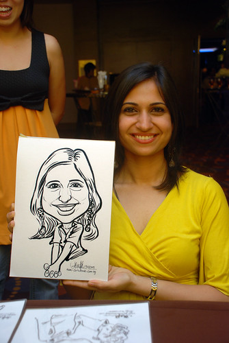 Caricature live sketching for Standard Chartered Bank - 6
