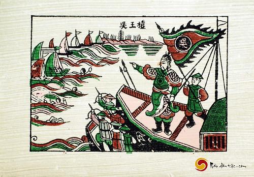 tranh dan gian Viet Nam