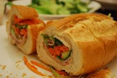 Close-up -Vietnamese Pork Roll (avlxyz) Tags: food bread vietnamese sandwich pork baguette roll insides crosssection banhmi innards bánhmì