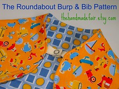 Roundabout Burp and Bib - thf