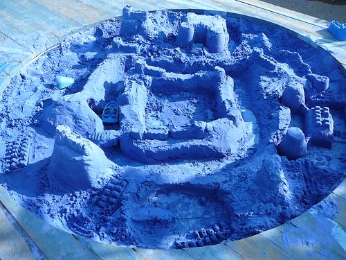 Château de sable bleu no3