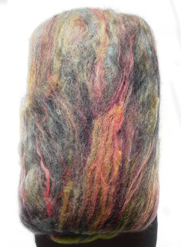 free gift from Fluff-n-Stuff 50g batt merino, cashmere, nylon, corriedale, BFL very soft stuff