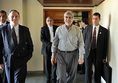 Fernando Lugo junto al ministro de Defensa