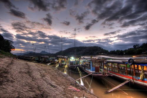 River Boats at Dusk