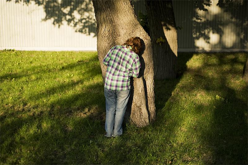 johanna with tree