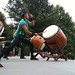 Long ago in Japan, taiko drums were beaten to boost the morale of armies and used to communicated from village to village.