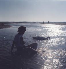 lda et le cygne (Clotilde Boisrenard) Tags: 120 6x6 bloom yashica cygne arcachon bassin lda mytho