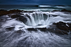 Portal to the Underworld (Darren White Photography) Tags: ocean longexposure storm beach nature centraloregon landscape nikon waves natural tide scenic oregoncoast capeperpetua d300 the4elements anawesomeshot fall2009 alemdagqualityonlyclub