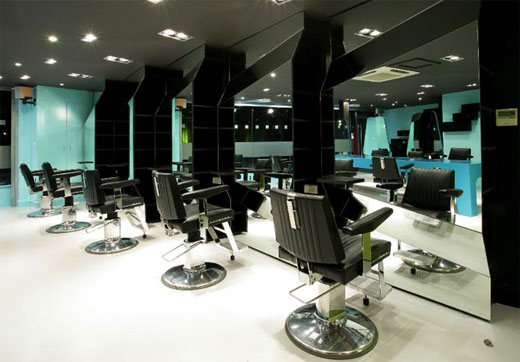 reuben wood hair salon modern and colorful barbershop interior