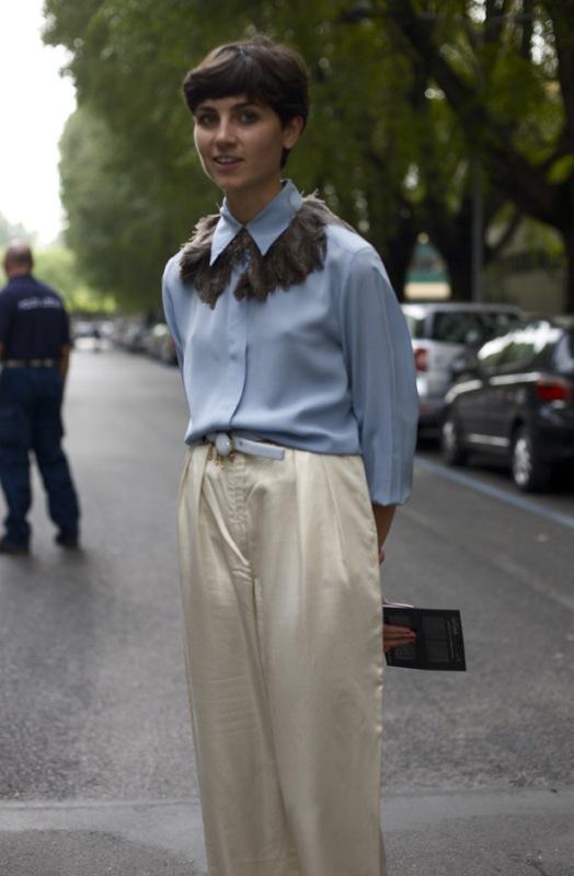 feather shirt collar