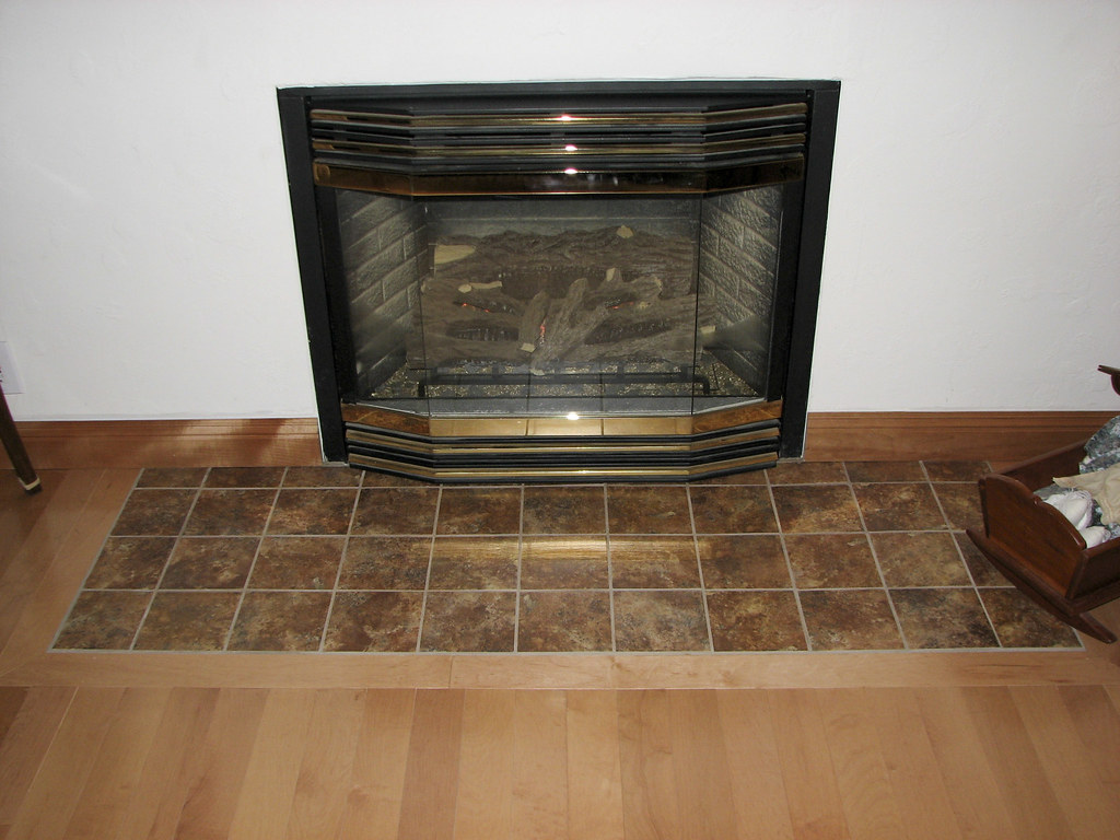 Fireplace Tile Hearth Project
