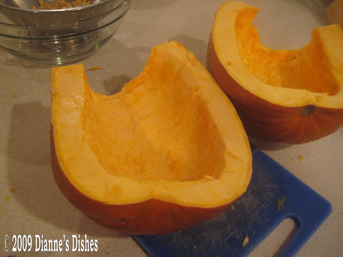 Roasted Pumpkin: Ready to Cut Into Chunks