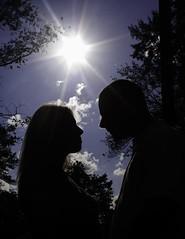Starting a new  Day....... (Egoista_73) Tags: sky sun tree love alberi clouds nuvole cielo sole amore controluce coppia sguardi innamorati parlando