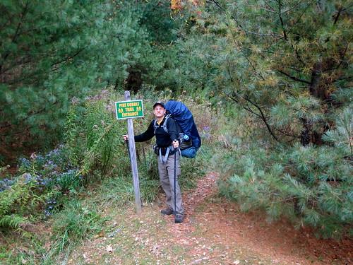 Start of Pine Cobble trail