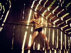 behind bars (Rowena R) Tags: blur colour barn r themed rowena sequinshirt glitteryshirt lightthroughbarn