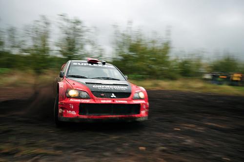 Mark van Eldik und Michel Groenewoud auf Mitsubishi Lancer WRC 05