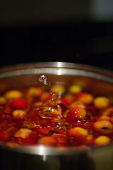 Crab apple splash (Skink74) Tags: red 20d cooking water yellow fruit pan splash jam eos20d crabapples nikkor35f14 nikkor35mm114ai