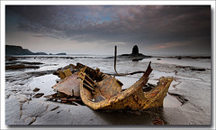 THE ADMIRAL (Steve Boote..) Tags: sea england seascape dawn coast ship whitby coastline wreck gitzo northyorkshire saltwickbay sigma1020 saltwicknab blacknab leefilters admiralvontromp samsunggx20 steveboote