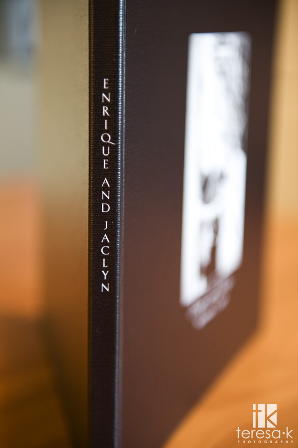 Modern coffee table wedding book, Teresa K photography