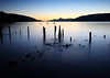 Loch Ness at sunset (freeskiing) Tags: longexposure november blue sunset scotland rocks piers explore lochness inverness sigma1020mm highlandsofscotland ndgrad09 benthorburn