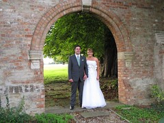 Wedding: bride and groom framed by archway (Paul Biggins) Tags: wedding groom bride archway