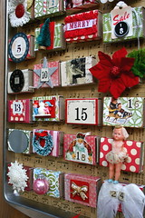 Advent Calendar.. from a cookie tin (fleamarketstudio) Tags: vintage scrapbooking advent collageart crafty adventcalendar alteredart homelife shabbychic mixedmediaart christmascraft